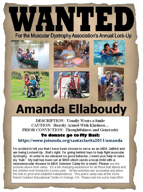 Wanted Poster for Amanda
